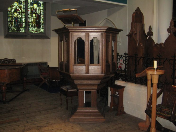 Pulpit, dedicated to Lt Geoffrey Turner Hotblack | Stuart Billington