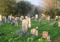Finding a grave in the churchyard